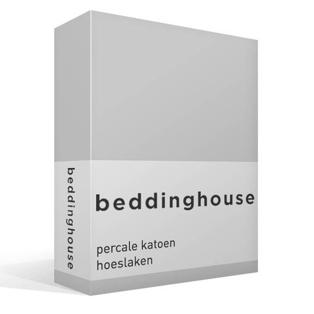 Beddinghouse percale katoen hoeslaken - 100% percale katoen - 2-persoons (140x200 cm) - Light grey