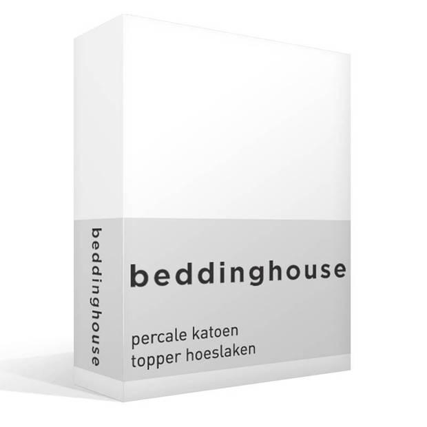 Beddinghouse percale katoen topper hoeslaken - 100% percale katoen - 2-persoons (140x200 cm) - White