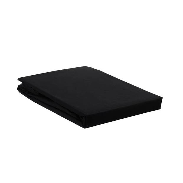 Beddinghouse percale katoen split-topper hoeslaken - 100% percale katoen - 2-persoons (140x200 cm) - Black