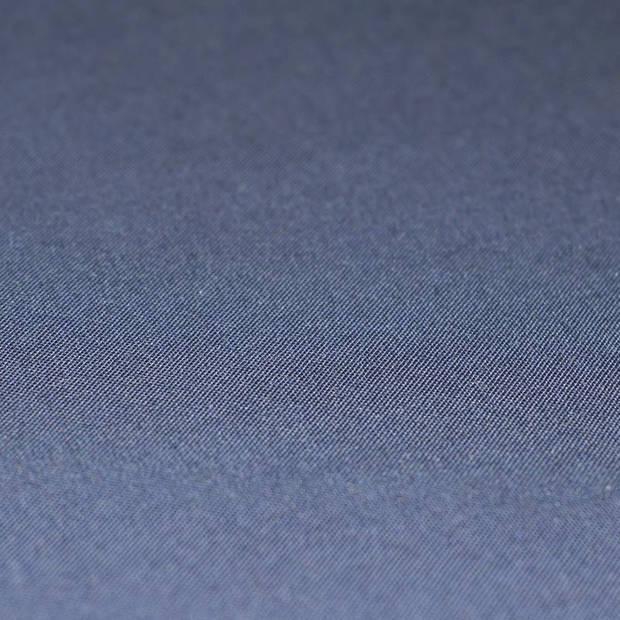 Snoozing - Katoen-satijn - Laken - Eenpersoons - 240x260 - Navy