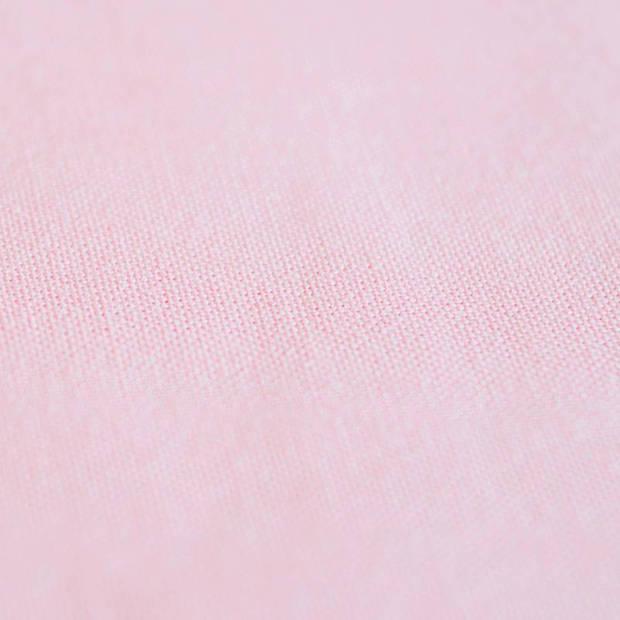 Snoozing - Katoen-satijn - Laken - Eenpersoons - 150x260 - Roze