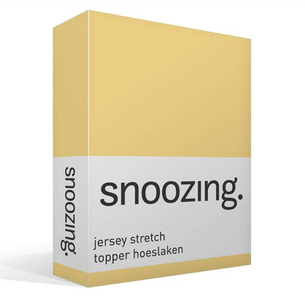 Snoozing Stretch - Topper - Hoeslaken - 90/100x200/220/210 - Geel