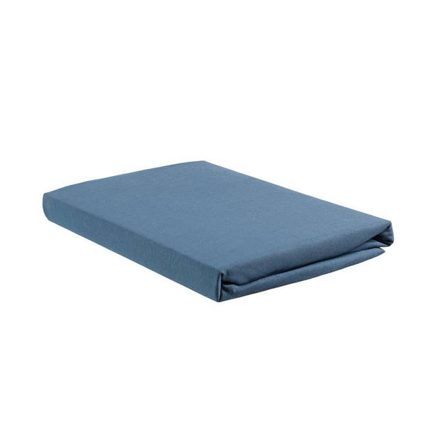 Beddinghouse jersey split-topper hoeslaken - 100% gebreide jersey katoen - 2-persoons (140x200/220 cm) - Blue