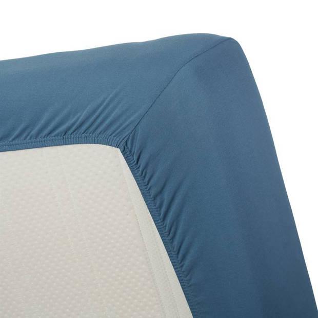 Beddinghouse jersey hoeslaken - 100% gebreide jersey katoen - 2-persoons (140x200/220 cm) - Blue