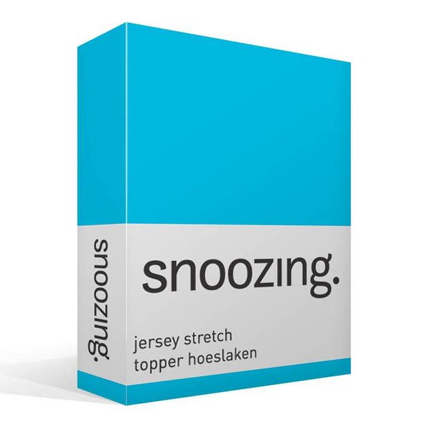 Snoozing Stretch - Topper - Hoeslaken - 200x200/220/210 - Turquoise