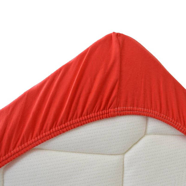 Snoozing Stretch - Topper - Hoeslaken - 70/80x200/220/210 - Rood