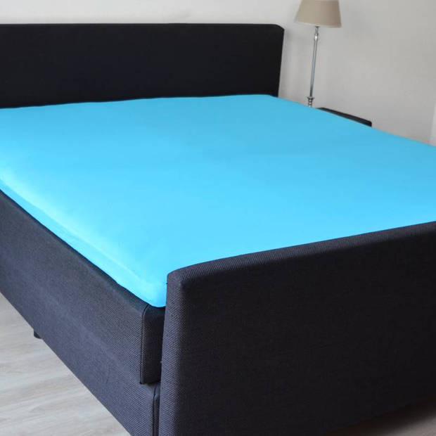 Snoozing Stretch - Topper - Hoeslaken - 120/130x200/220/210 - Turquoise