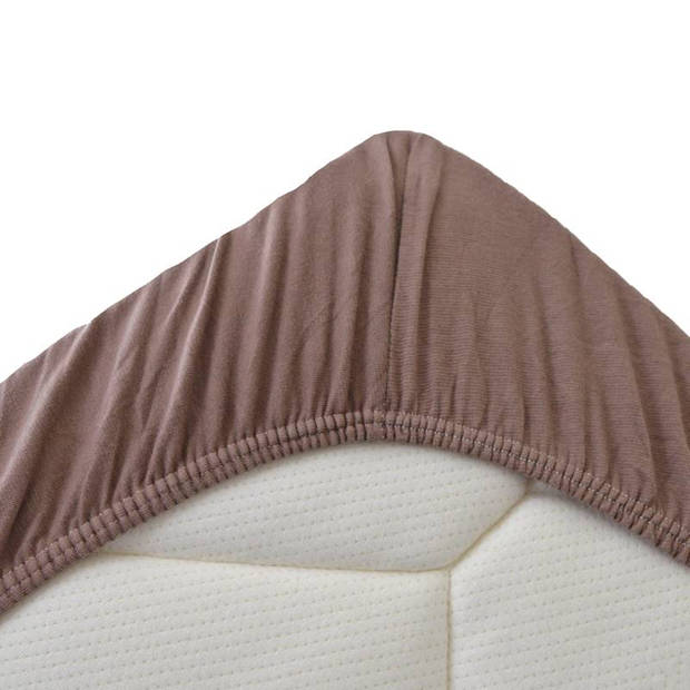 Snoozing Stretch - Topper - Hoeslaken - 120/130x200/220/210 - Taupe