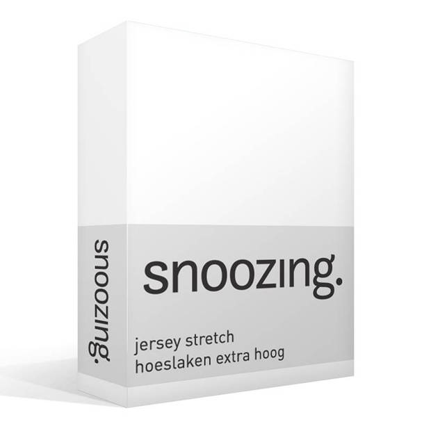 Snoozing Stretch - Hoeslaken - Extra Hoog - 120/130x200/220/210 - Wit