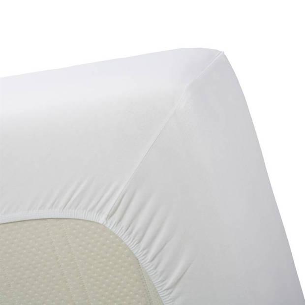 Beddinghouse jersey lycra hoeslaken - 95% gebreide katoen - 5% lycra - 1-persoons (90/100x200/220 cm) - White