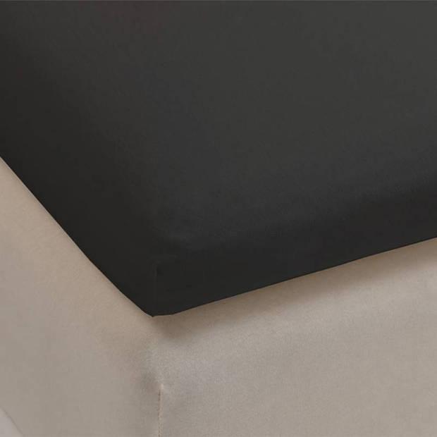 Beddinghouse jersey lycra topper hoeslaken - 95% gebreide katoen - 5% lycra - 1-persoons (70/80x200/220 cm) - Anthracite
