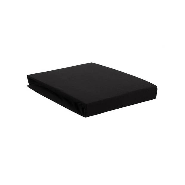 Beddinghouse jersey lycra topper hoeslaken - 95% gebreide katoen - 5% lycra - 1-persoons (90/100x200/220 cm) - Black