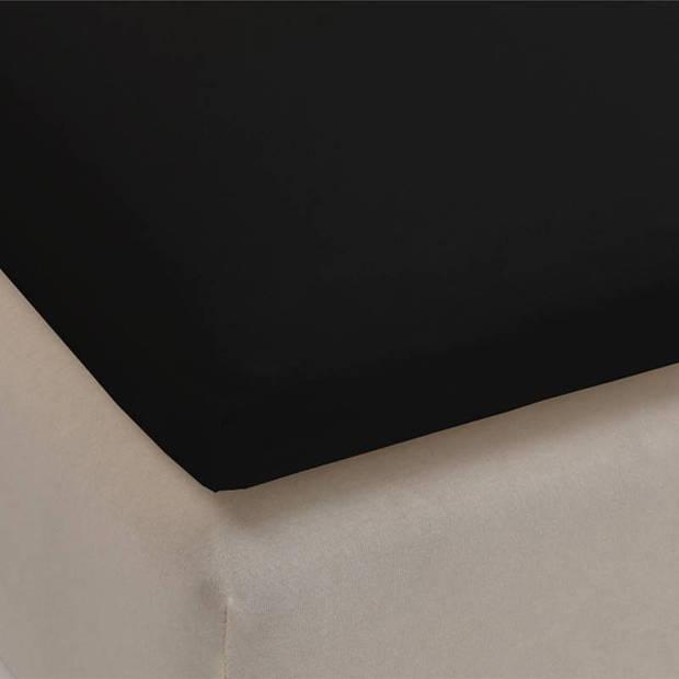 Beddinghouse jersey lycra topper hoeslaken - 95% gebreide katoen - 5% lycra - 2-persoons (140/160x200/220 cm) - Black
