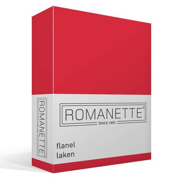 Romanette flanel laken - 100% geruwde flanel-katoen - 1-persoons (150x250 cm) - Rood