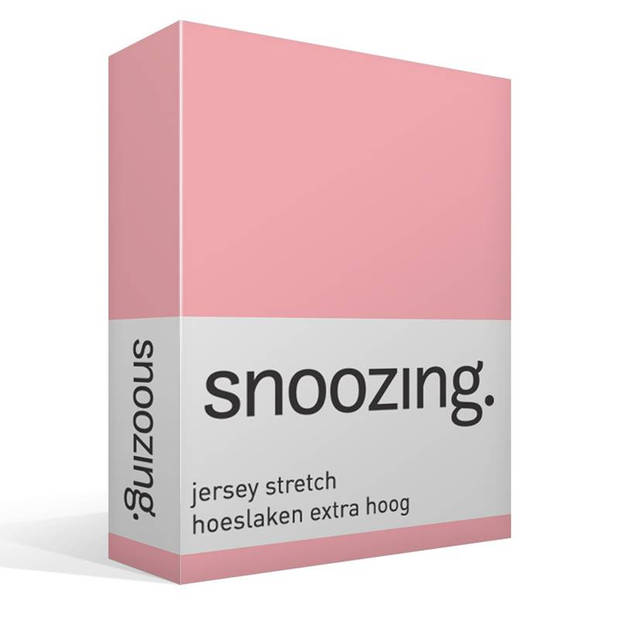 Snoozing Stretch - Hoeslaken - Extra Hoog - 140/150x200/220/210 - Roze