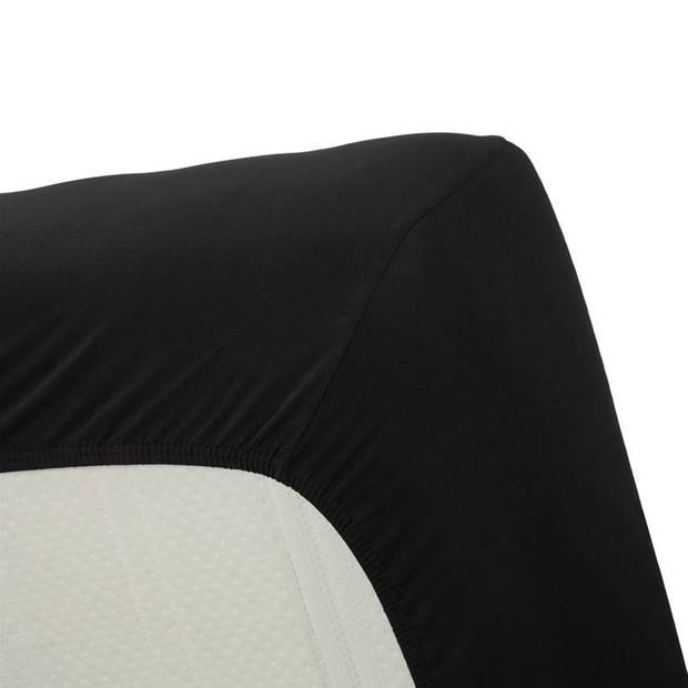 Beddinghouse jersey lycra hoeslaken - 95% gebreide katoen - 5% lycra - 1-persoons (90/100x200/220 cm) - Black