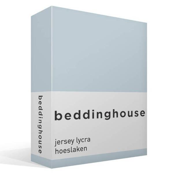 Beddinghouse jersey lycra hoeslaken - 95% gebreide jersey katoen - 5% lycra - 1-persoons (70/80x200/220 cm) - Light blue