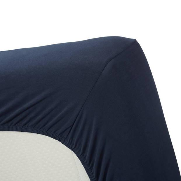 Beddinghouse jersey lycra hoeslaken - 95% gebreide jersey katoen - 5% lycra - 2-persoons (140/160x200/220 cm) - Indigo