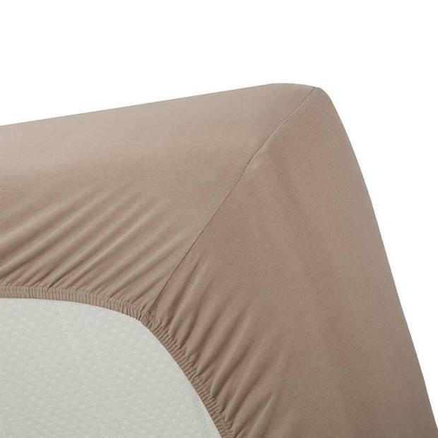 Beddinghouse jersey lycra hoeslaken - 95% gebreide jersey katoen - 5% lycra - 1-persoons (70/80x200/220 cm) - Taupe