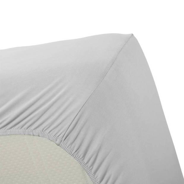 Beddinghouse jersey lycra hoeslaken - 95% gebreide katoen - 5% lycra - 2-persoons (140/160x200/220 cm) - Light grey