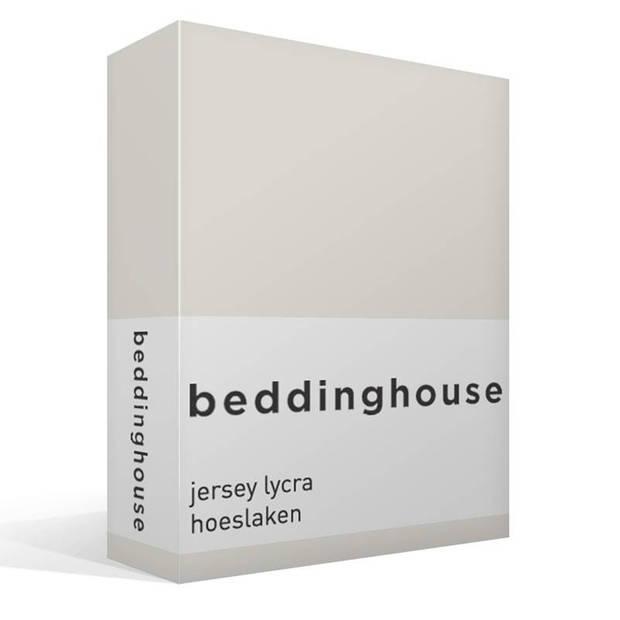 Beddinghouse jersey lycra hoeslaken - 95% gebreide jersey katoen - 5% lycra - 1-persoons (90/100x200/220 cm) - Off-white