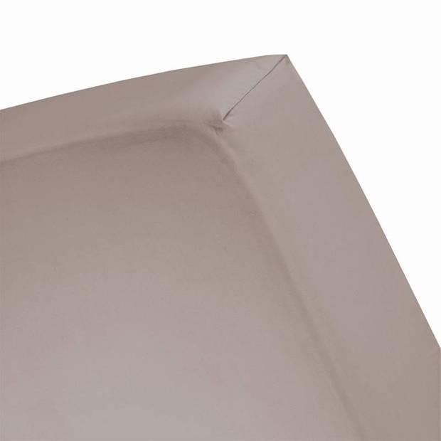 Cinderella Basic percaline katoen hoeslaken - 100% percaline katoen - 2-persoons (120x200 cm) - Taupe