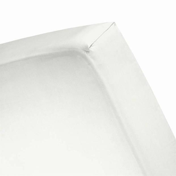 Cinderella Basic percaline katoen hoeslaken - 100% percaline katoen - 1-persoons (70x200 cm) - Ivory