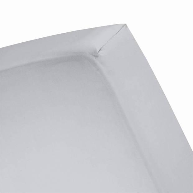 Cinderella Basic percaline katoen hoeslaken - 100% percaline katoen - 1-persoons (70x200 cm) - Grey
