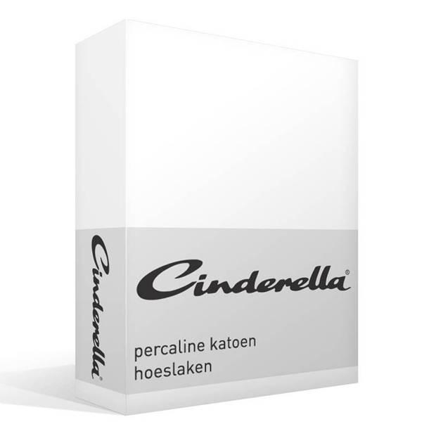Cinderella Basic percaline katoen hoeslaken - 100% percaline katoen - 1-persoons (70x200 cm) - White