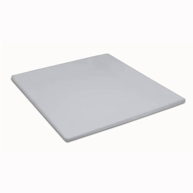 Cinderella basic percaline katoen topper hoeslaken - 100% percaline katoen - 1-persoons (90x200 cm) - Light grey
