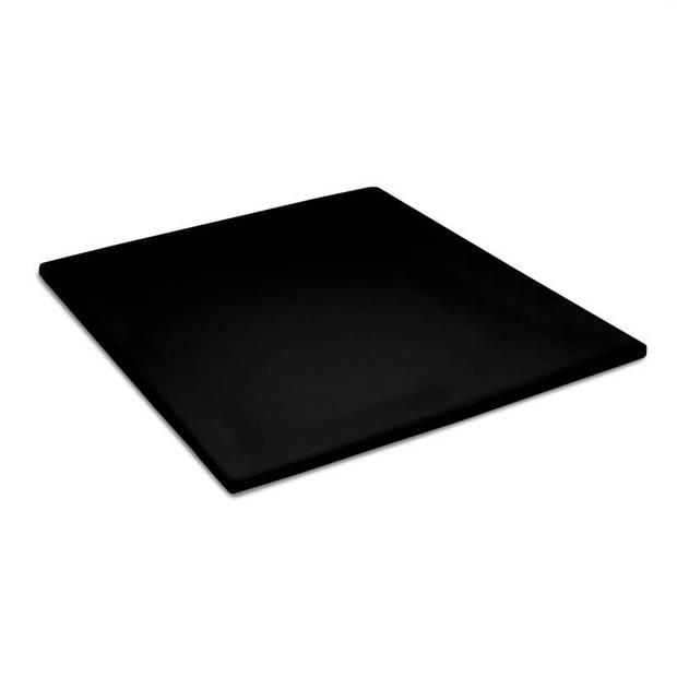 Cinderella basic percaline katoen topper hoeslaken - 100% percaline katoen - 1-persoons (90x210 cm) - Black
