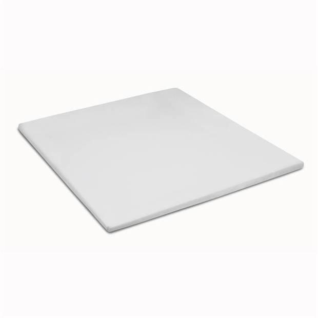 Cinderella basic percaline katoen topper hoeslaken - 100% percaline katoen - 1-persoons (90x210 cm) - White
