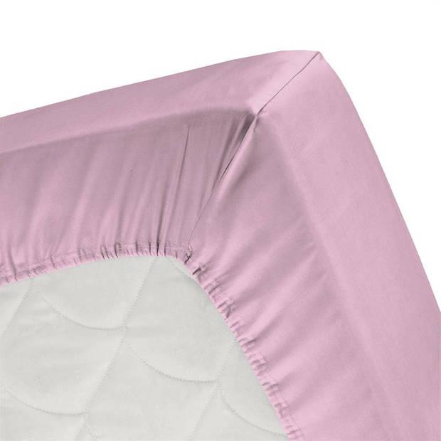 Cinderella basic percaline katoen hoeslaken - 100% percaline katoen - 1-persoons (90x220 cm) - Candy