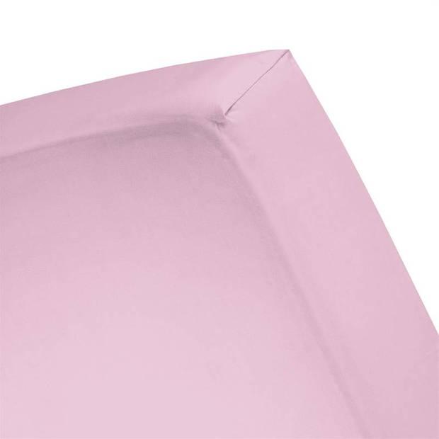Cinderella basic percaline katoen hoeslaken - 100% percaline katoen - 1-persoons (70x200 cm) - Candy