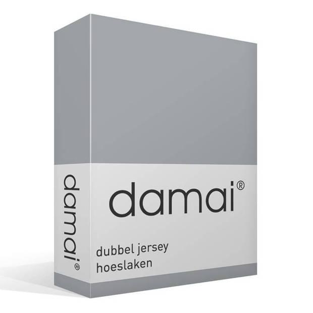 Damai dubbel jersey hoeslaken - 100% dubbel gebreide jersey katoen - 2-persoons (120/130x200/210/220 cm) - Grey