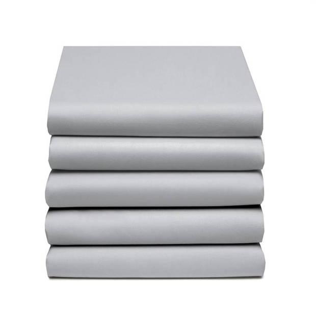 Damai dubbel jersey hoeslaken - 100% dubbel gebreide jersey katoen - 2-persoons (140/150x200/210/220 cm) - Light grey