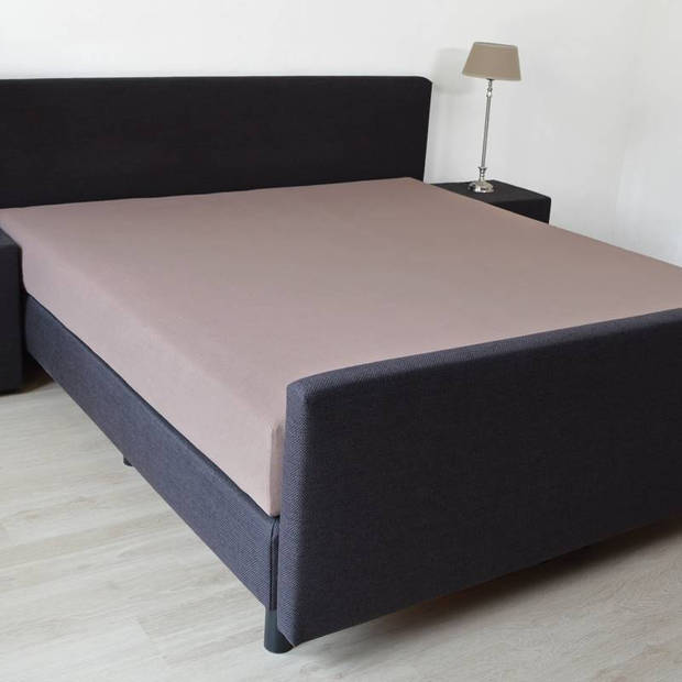 Snoozing badstof hoeslaken - 80% katoen - 20% polyester - 1-persoons (90x200/220 of 100x200 cm) - Taupe