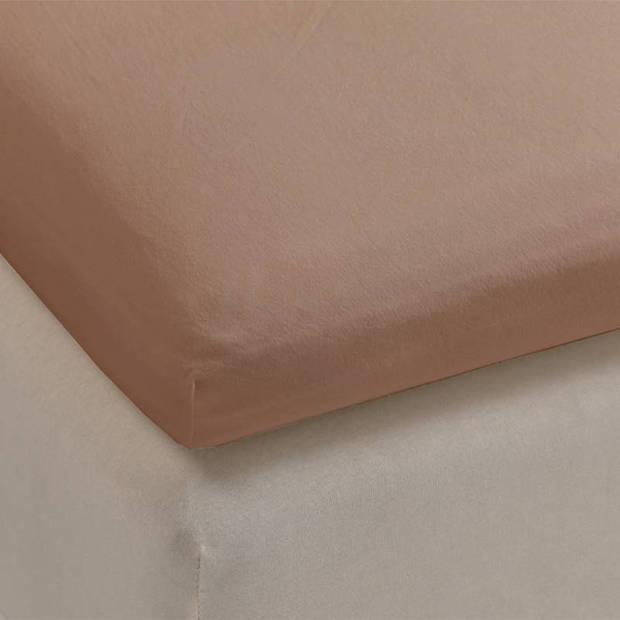 Beddinghouse jersey lycra topper hoeslaken - 95% gebreide katoen - 5% lycra - 2-persoons (140/160x200/220 cm) - Taupe