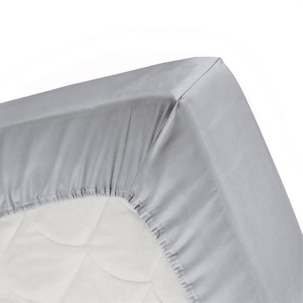 Cinderella flanel hoeslaken - 100% geruwde flanel-katoen - 2-persoons (140x200/210 cm) - Grey