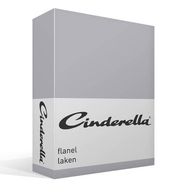 Cinderella flanel laken - 100% geruwde flanel-katoen - Lits-jumeaux (240x260 cm)