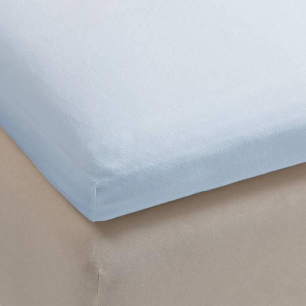 Beddinghouse jersey lycra topper hoeslaken - 95% gebreide katoen - 5% lycra - 1-persoons (90/100x200/220 cm) - Blauw