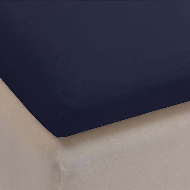 Beddinghouse jersey lycra topper hoeslaken - 95% gebreide katoen - 5% lycra - 2-persoons (140/160x200/220 cm) - Indigo