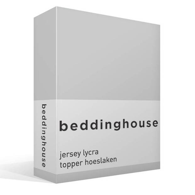 Beddinghouse jersey lycra topper hoeslaken - 95% gebreide katoen - 5% lycra - 2-persoons (140/160x200/220 cm) - Grijs