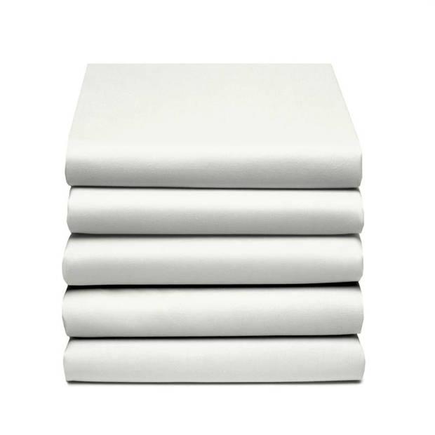 Damai dubbel jersey hoeslaken - 100% dubbel gebreide jersey katoen - 2-persoons (140/150x200/210/220 cm) - Ivory