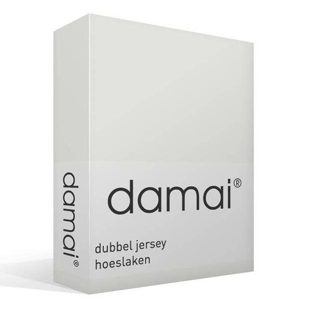 Damai dubbel jersey hoeslaken - 100% dubbel gebreide jersey katoen - 2-persoons (120/130x200/210/220 cm) - Ivory