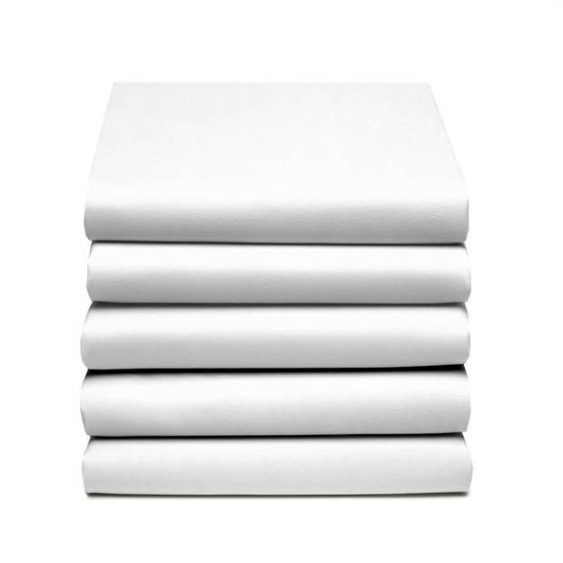 Damai dubbel jersey hoeslaken - 100% dubbel gebreide jersey katoen - 2-persoons (140/150x200/210/220 cm) - White