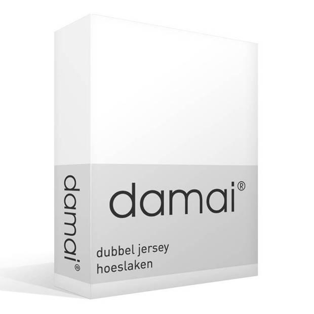 Damai dubbel jersey hoeslaken - 100% dubbel gebreide jersey katoen - 2-persoons (120/130x200/210/220 cm) - White