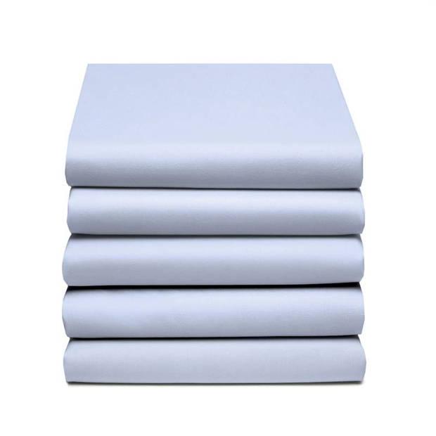 Damai dubbel jersey hoeslaken - 100% dubbel gebreide jersey katoen - 2-persoons (120/130x200/210/220 cm) - Sky Blue