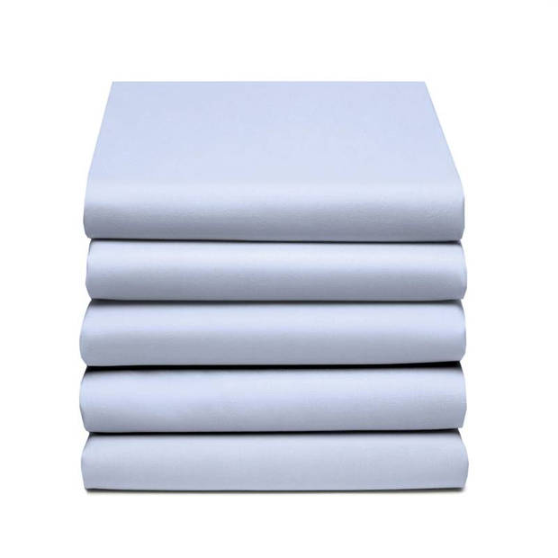 Damai dubbel jersey hoeslaken - 100% dubbel gebreide jersey katoen - 2-persoons (140/150x200/210/220 cm) - Sky Blue
