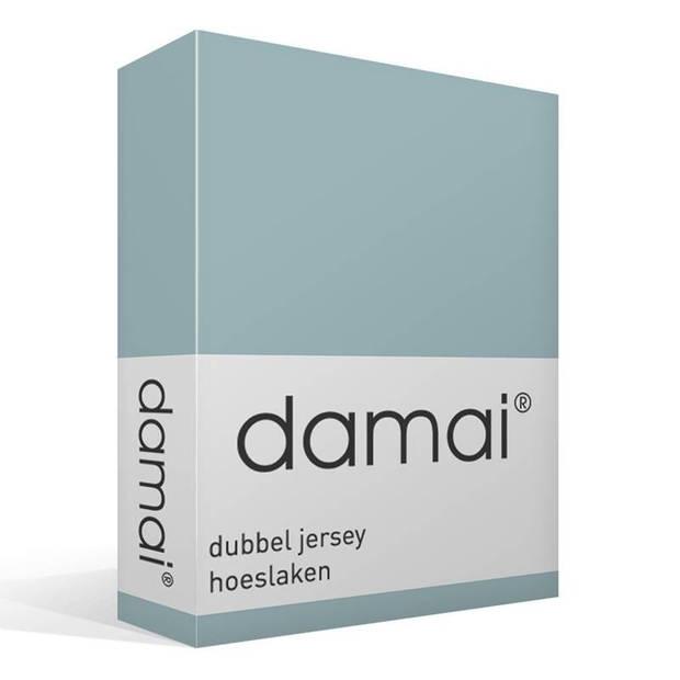 Damai dubbel jersey hoeslaken - 100% dubbel gebreide jersey katoen - 2-persoons (120/130x200/210/220 cm) - Mineral
